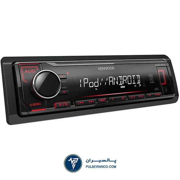 پخش کنوود 204 دکلس - Kenwood KMM-204 car stereo