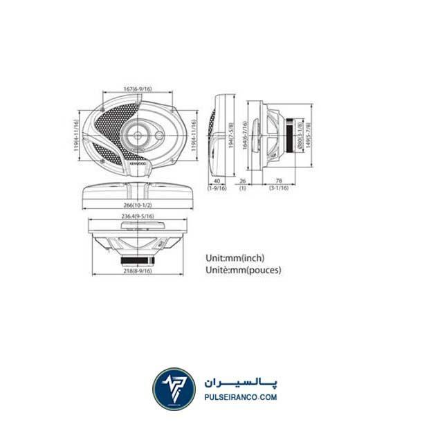 باند کنوود 6934 - Kenwood KFC-M6934A speaker